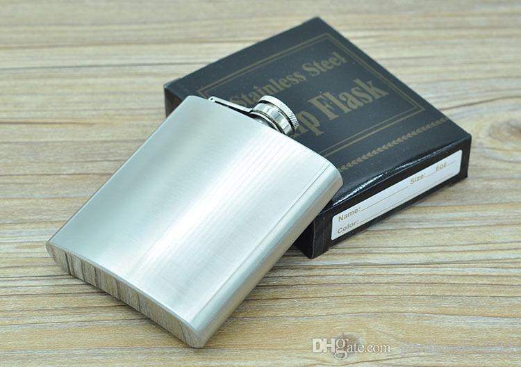 Brass lid 2 4 6 8 oz Stainless Steel Hip Flask Personalized Flagon High Quality Portable Wine Whisky Pot Bottle Drinkware For Drinker ak068