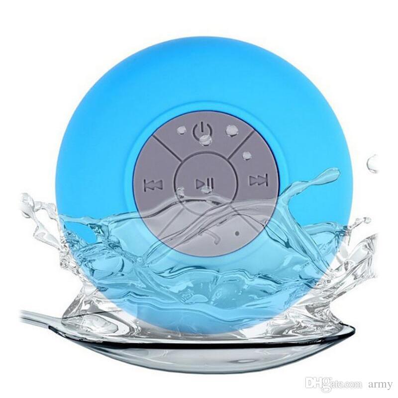 Mini Portátil Subwoofer Chuveiro À Prova D 'Água Sem Fio Bluetooth Speaker Handsfree Carro Receber Chamada Música Sucção Mic