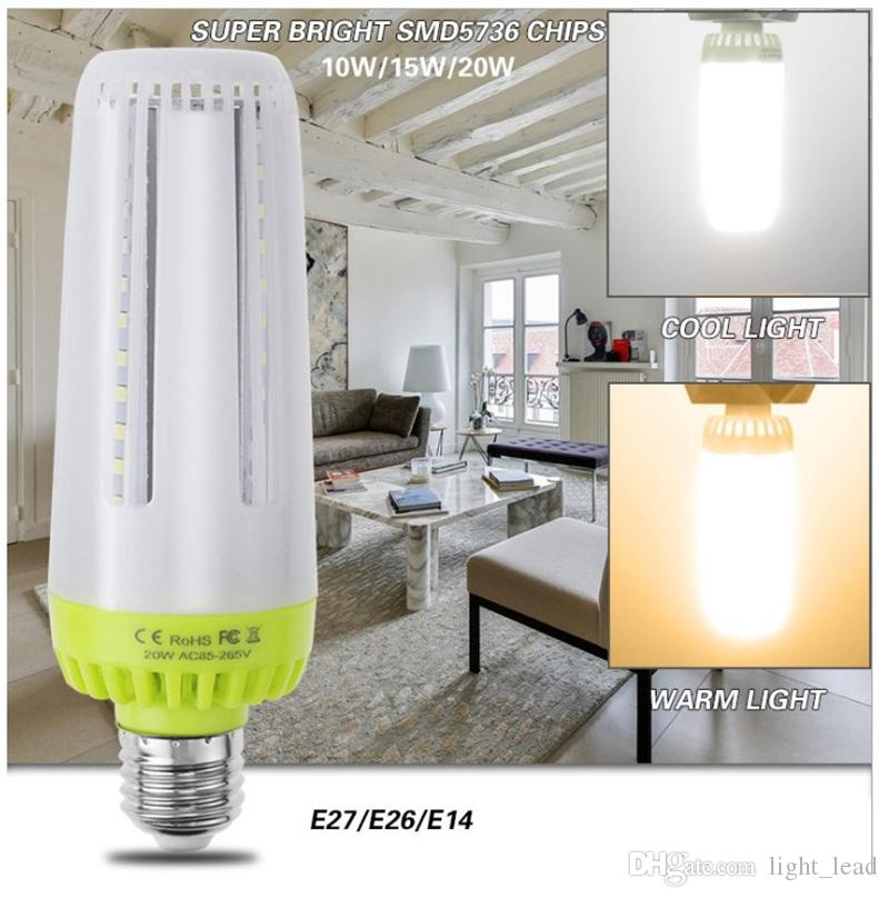 LED ضوء المصابيح E27 E26 E14 No Stroboscopic LED الذرة مصباح 10W 15W 20W AC85-265V سوبر مشرق توفير الطاقة ضوء ل إضاءة داخلي