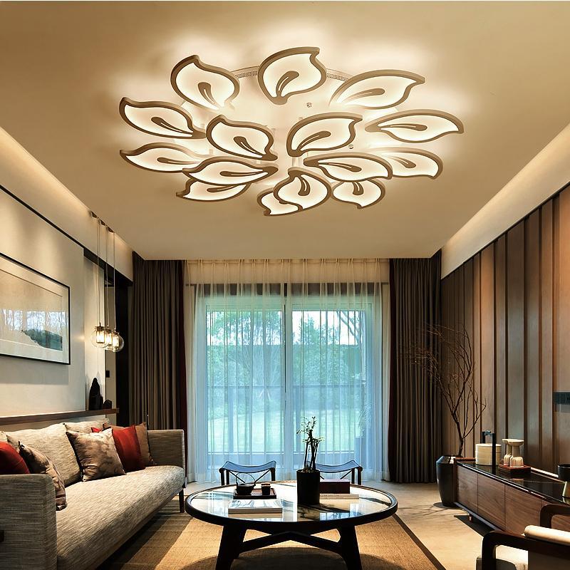 Großhandel Modernes Acryl Design Deckenleuchten Schlafzimmer Wohnzimmer  Deckenleuchte LED Home Lighting Deckenleuchte AC90 260V Laternen Von ...