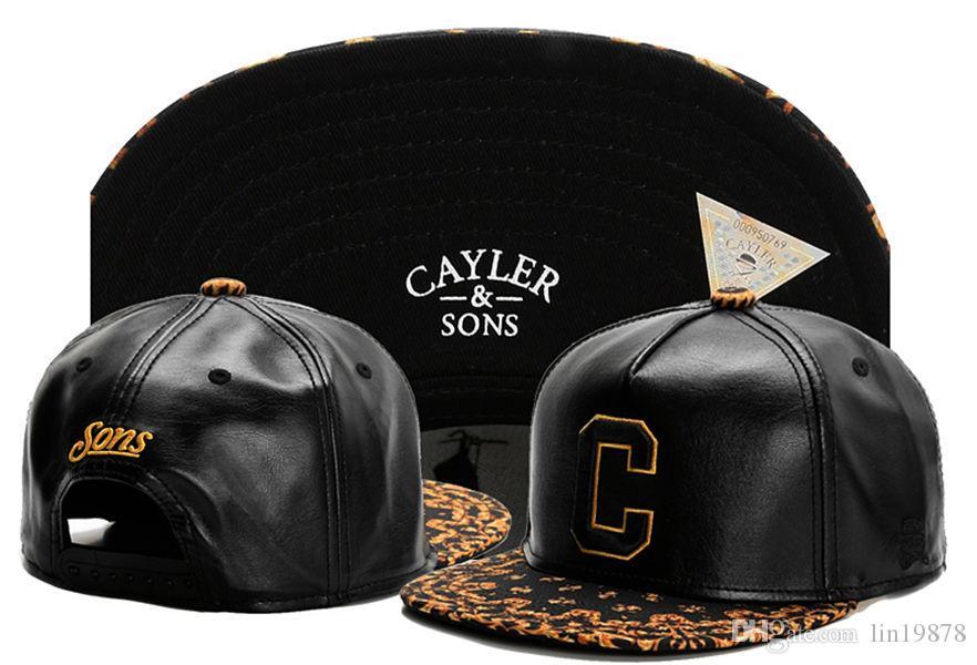 Brand new Cayler & Sons C letter leather Women Men Hip Hop adjustable Baseball Caps Fashion Bone gorras Snapback hats