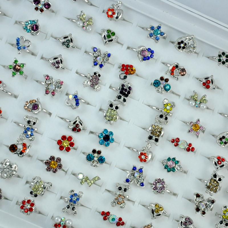 Multicolor Acrylic Lovely Silver Plated Adjustable Rings For Women and Girls Fashion Wholesale Cheap Jewelry Lots LR053