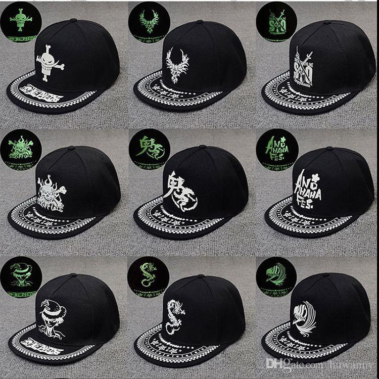 Hip-Hop Beyzbol Kapaklar Floresan Düz Spor Şapka Aydınlık Casquette Doruğa Kap Ayarlanabilir Toptan Ücretsiz Kargo 0719WH