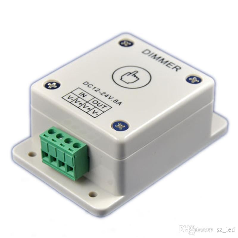DC12V 24V 8A LED Light Dimmer Touch Dimmer Regolatore di luminosità regolabile per monocolore 5050 3528 5630 Strip Light
