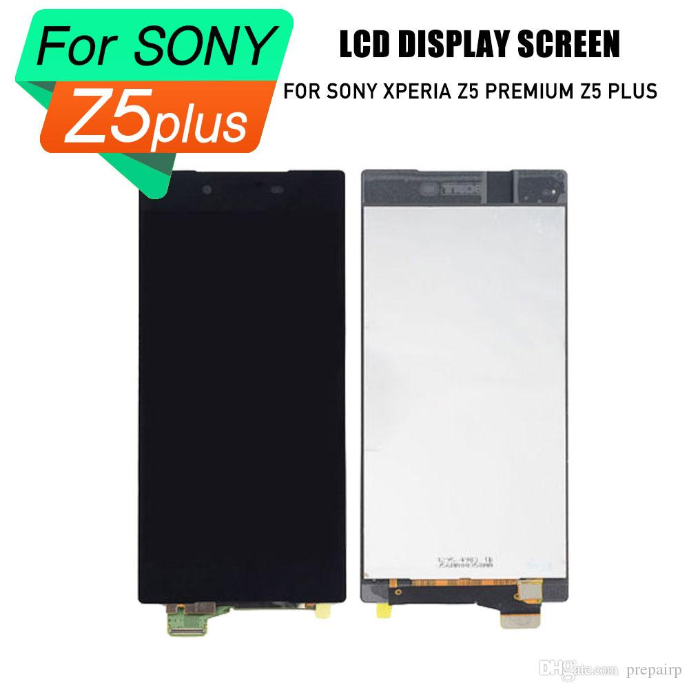 PrepairP LCD touch screen for SONY Xperia Z5 plus lcd digitizer screen touch frame assembly for SONY Xperia Z5 plus