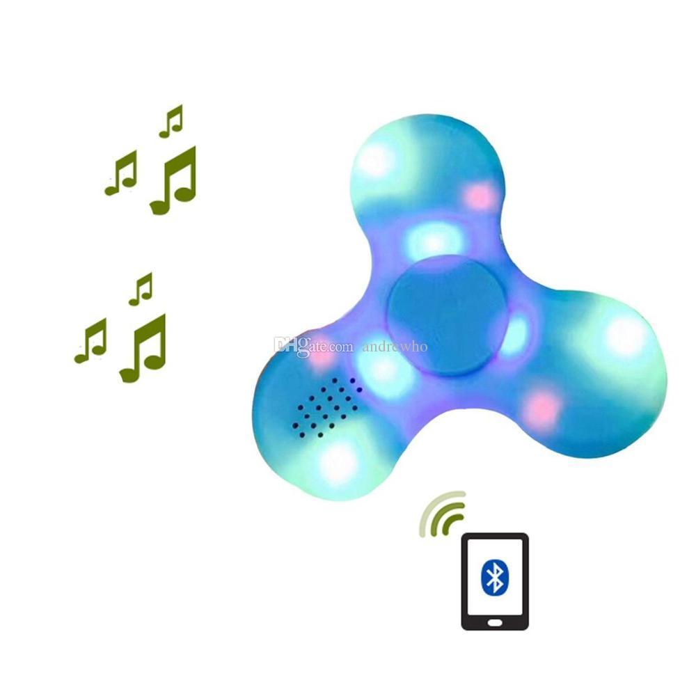 الملونة الصمام الخفيفة تململ المغازل بلوتوث تململ الدوار مع نوعية جيدة Bluetooth4.0 المتكلم لسماعات بلوتوث ميني