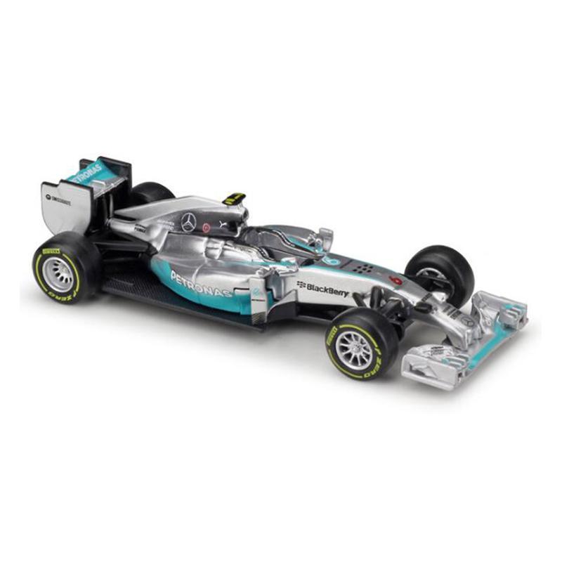 Koleksiyon Alaşım Metal Çocuk Oyuncak Araba Modeli 01:43 F1 W07 Hibrid Yarışı Araba Simülasyon Diecast Model
