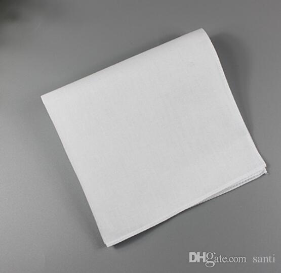 Lenço branco, lenço branco puro, puro quadrado pequeno, toalha de suor de algodão, lenço liso