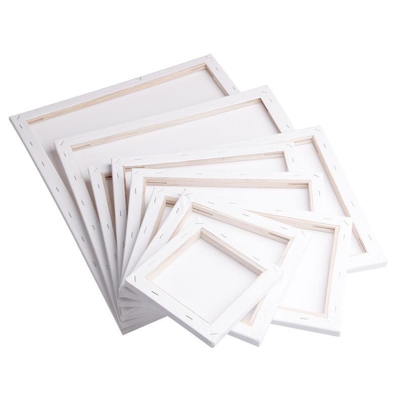 أبيض فارغ مربع الفنان قماش إطار خشبي لوحة لطلاء النفط الاكريليك معبأة 20x20 سنتيمتر