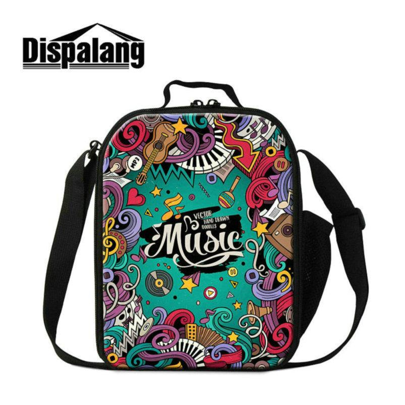 Creative Design Music Kid Lunchbox For School Small Canvas Lunch Bags For Students Girls Boys Lovely Food Meal Lancheira Thermal Cooler Bags