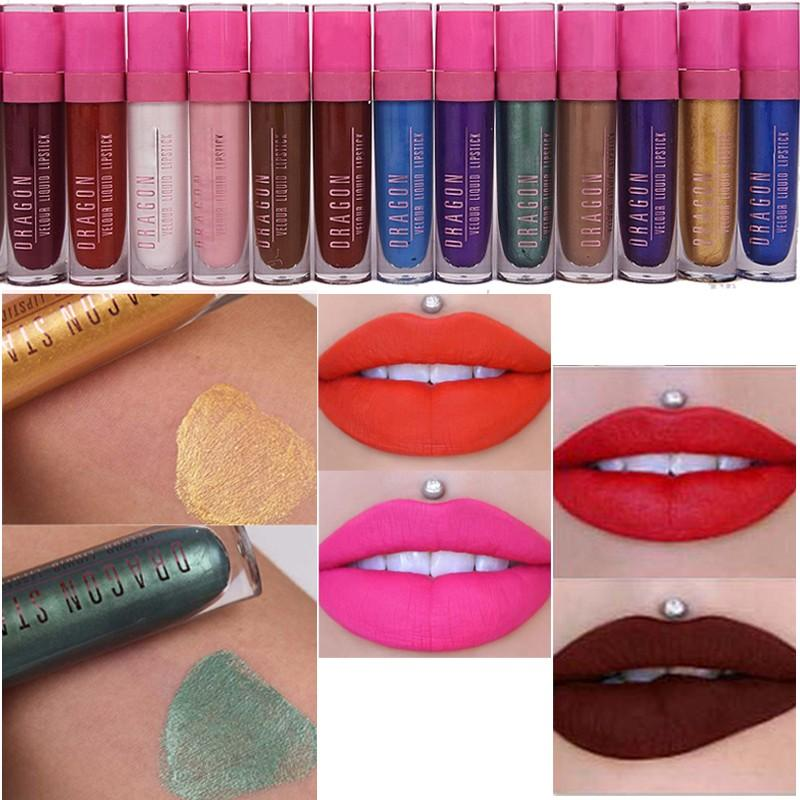 Hot 5 Star Matte Liquid lipstick Lip Gloss Make up Waterproof Long Lasting Lipgloss Makeup Lips Matte Metallic Liquid Lipstick