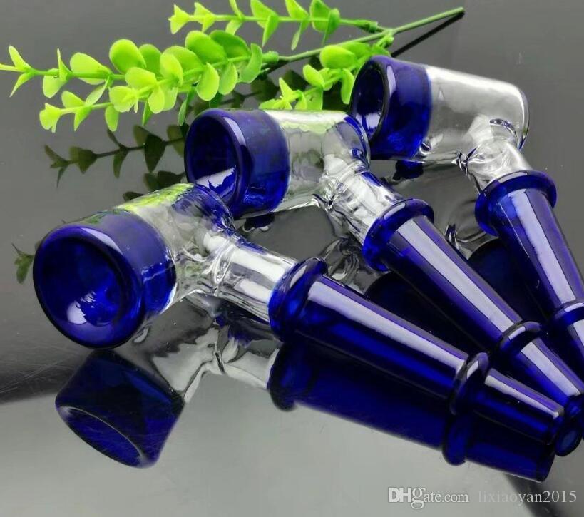 neues Blau verdickte Glasrohr Großhandelsbongs Öl-Brenner-Rohre Wasser-Rohr-Glasrohr-Öl-Anlagen rauchend, freies Verschiffen