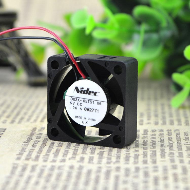 Для Японии NIDEC D03X-05TS1 02 3010 5 В HDD Вентилятор 3 СМ Вентилятор Охлаждения
