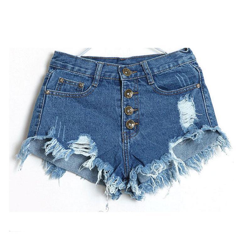 Shorts Women 2018 Fashion Ladies Tassel Hole High Waist Summer Short Jeans Sexy Mini Booty Shorts for Woman White Black