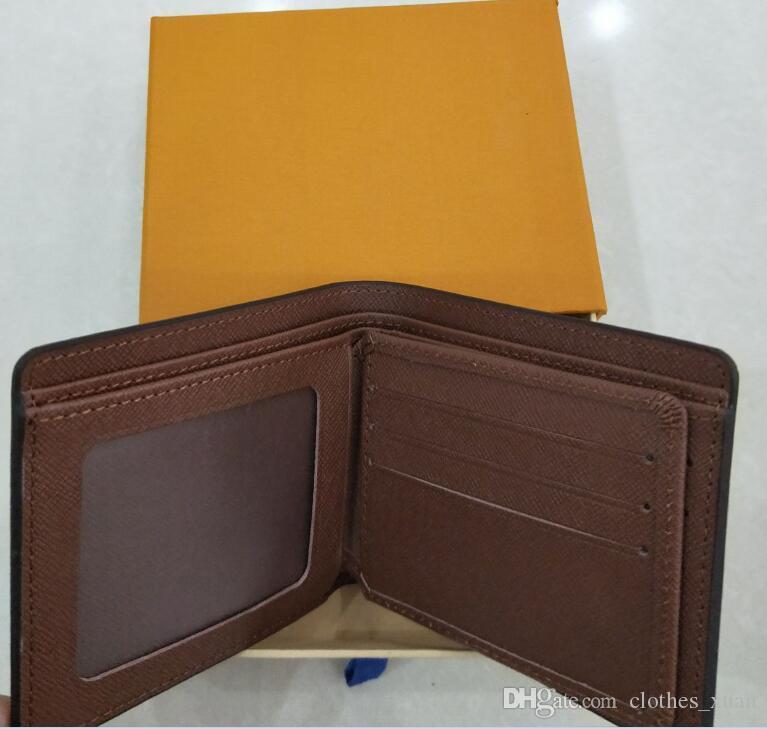 Brand Classic Portafogli Design Sacchetto di lusso di alta qualità in pelle per uomo donne piccole borse ultra slim pacchetto portafoglio
