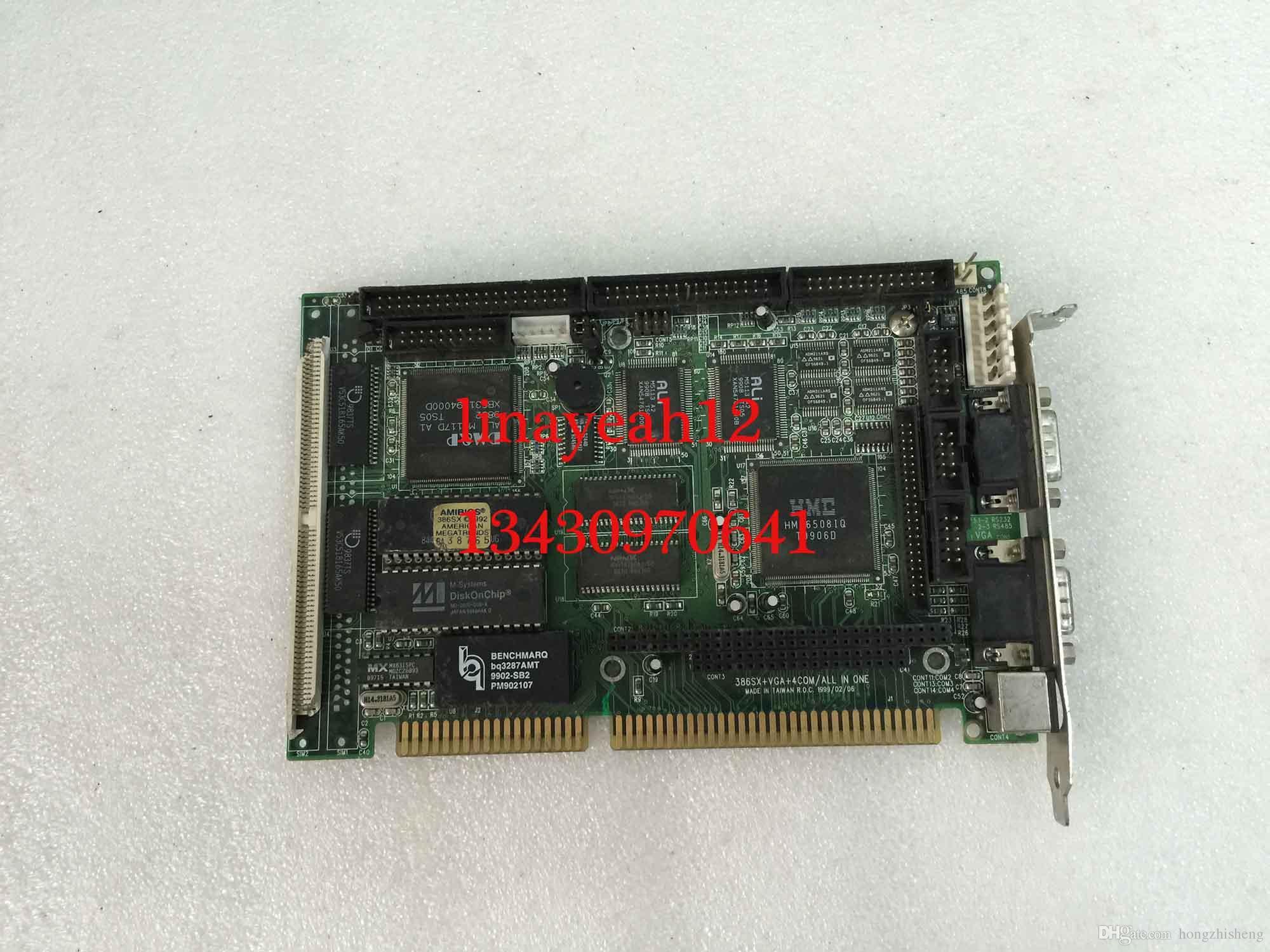 оригинальная PIA-639DV 386SX + VGA + 4COM / ALL IN ONE промышленная материнская плата протестирована работа