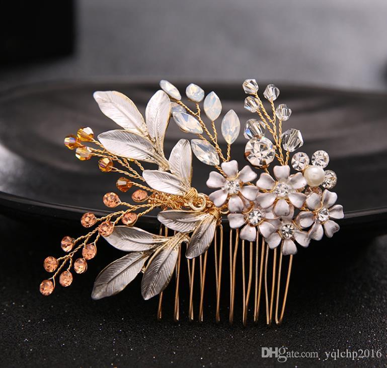 Nuovi pettini, spose, perline diamantate, copricapo, accessori per accessori da sposa