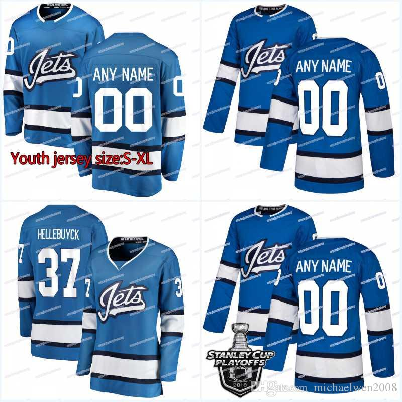 New Season Winnipeg Jets Jersey 29 Patrik Laine 26 Blake Wheeler 55 Mark Scheifele 33 DustinByfuglien 45 Dennis Everberg Hockey Jerseys