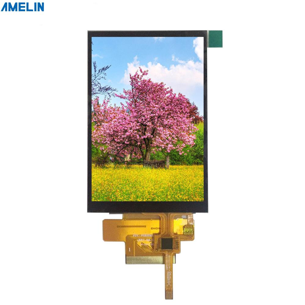 3.5 inch 320*480 TFT LCD Module touch Screen with RGB interface display from shenzhen amelin panel manufacture