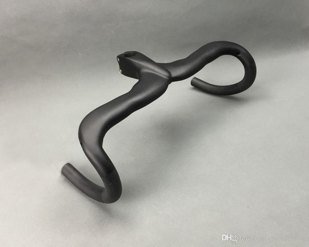 Matte 3K Full Carbon Fiber Road Cycling Bike Bicycle Handle Bar Integrated Handlebar Stem 40/42/44cm*90/100/110/120mm