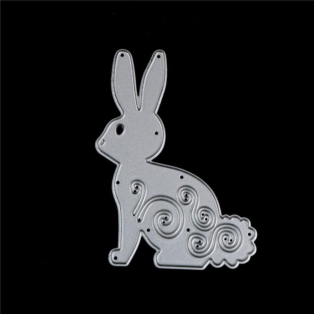 Easter Bunny Wreath Metal Cutting Dies Stencil Scrapbooking DIY Album Stamp Card WANGYUMI Scrapbook Stamp