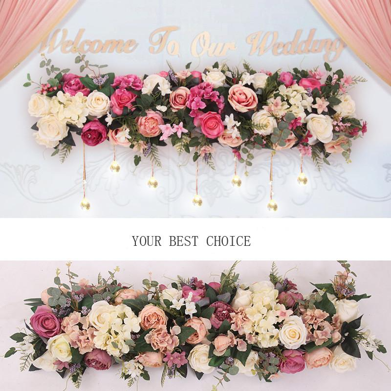 زهرة اصطناعية الأوروبي صف طويل الزهور الزفاف قوس الطريق الرصاص جميع أنواع مختلفة الديكور للمنزل فندق حزب ديكور