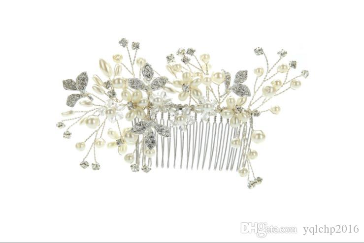 Bridal headwear, pearl water drill, hairdressing and decorations of bride ornaments