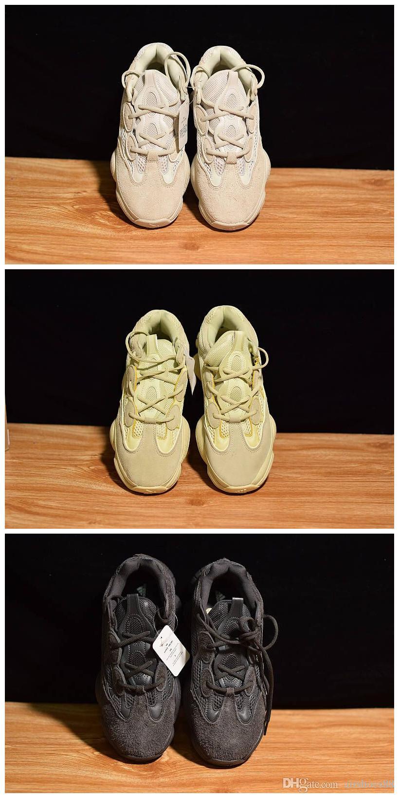 New 2019 Top quality Discount Blush KANYE 500 Kanye Sneakers Desert Rat 500 Mens Running Shoes Sport Shoe Man Sports Men Fashion Sneaker