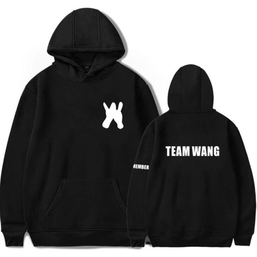 Moletom KPOP GOT7 JACKSON Team Wang Die Gleichen Paar Hoodies Wintermode Hip Hop Fleece Mit Kapuze Sweatshirt Frauen Männer Plus Größe