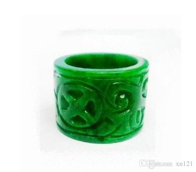 Myanmar-Jade-Grün-Monarchen ziehen diese farbenfrohe trockene grüne rohe Jade des Citroen schnitzte Ring für Männer und Frauen