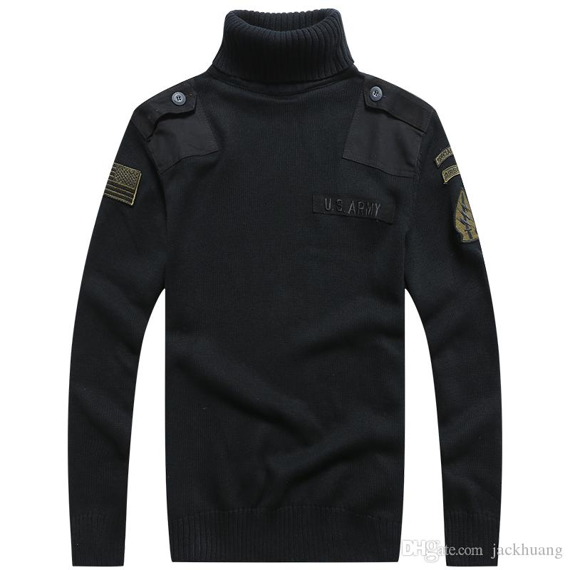 Acquista Maglione Militare Da Uomo Tattico Militare Tattico Lavorato A Maglia Highneck Maglioni Autunno Inverno Casual Pullover Pesante A $37.57 Dal
