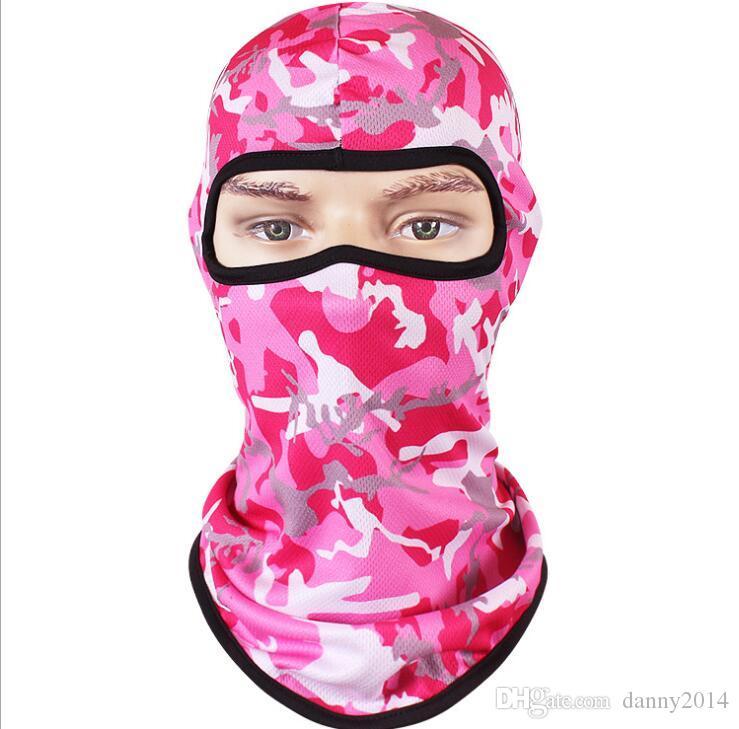 камуфляжные задействуя маски 3D цифровые печатные спортивные быстро высыхают дышащие маски полнолицевыми спандекс Балаклава головной убор Лыжная шеи Велоспорт мотоциклов крышка