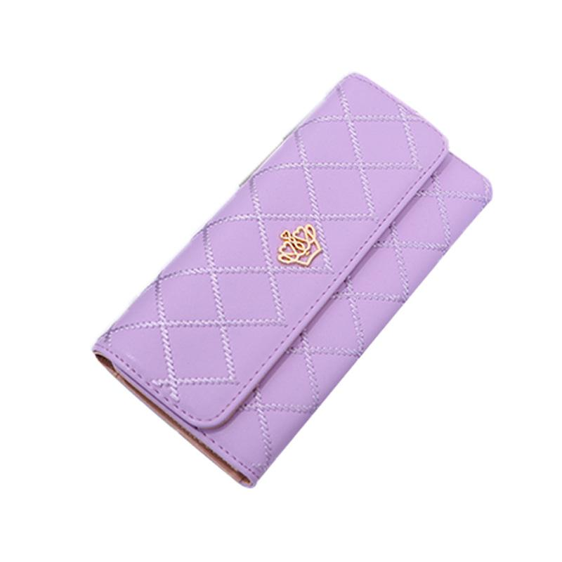 Women Purse Leather Wallet Fashion Long Hasp Purse Money Phone Card Holder Coin Pocket New Design Female Crown Wallet
