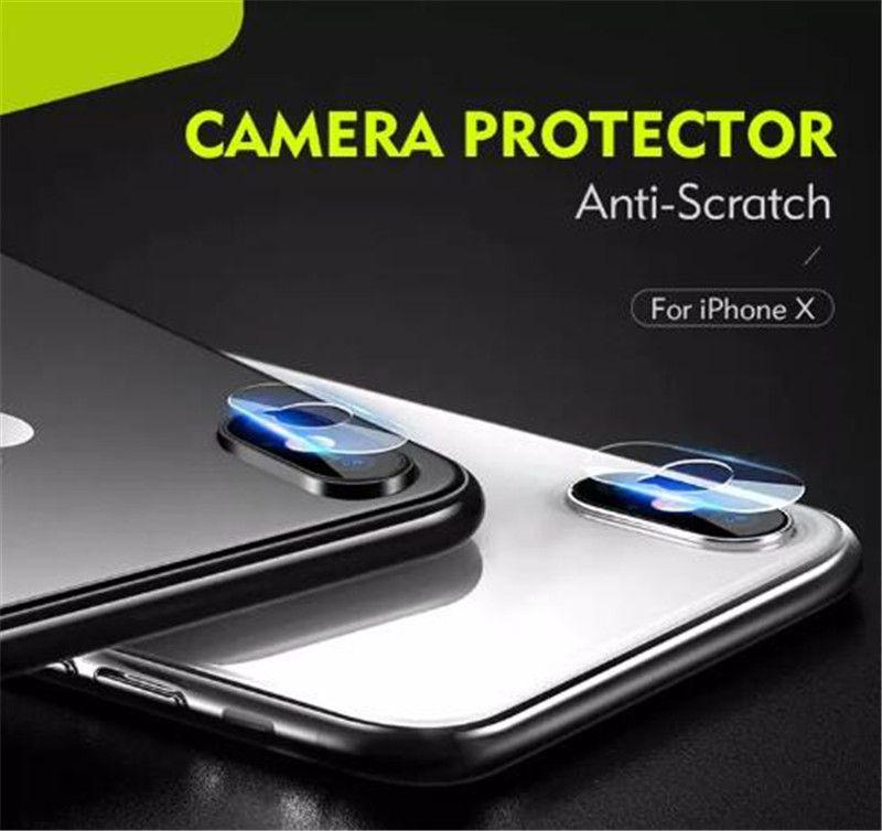 Yeni 2.5D Kamera Temperli Gözlük Geri Lens Anti-Scratch Fiber Ekran Koruyucu Film iphone XS MAX XR X 8 7 6 perakende Paketi ile
