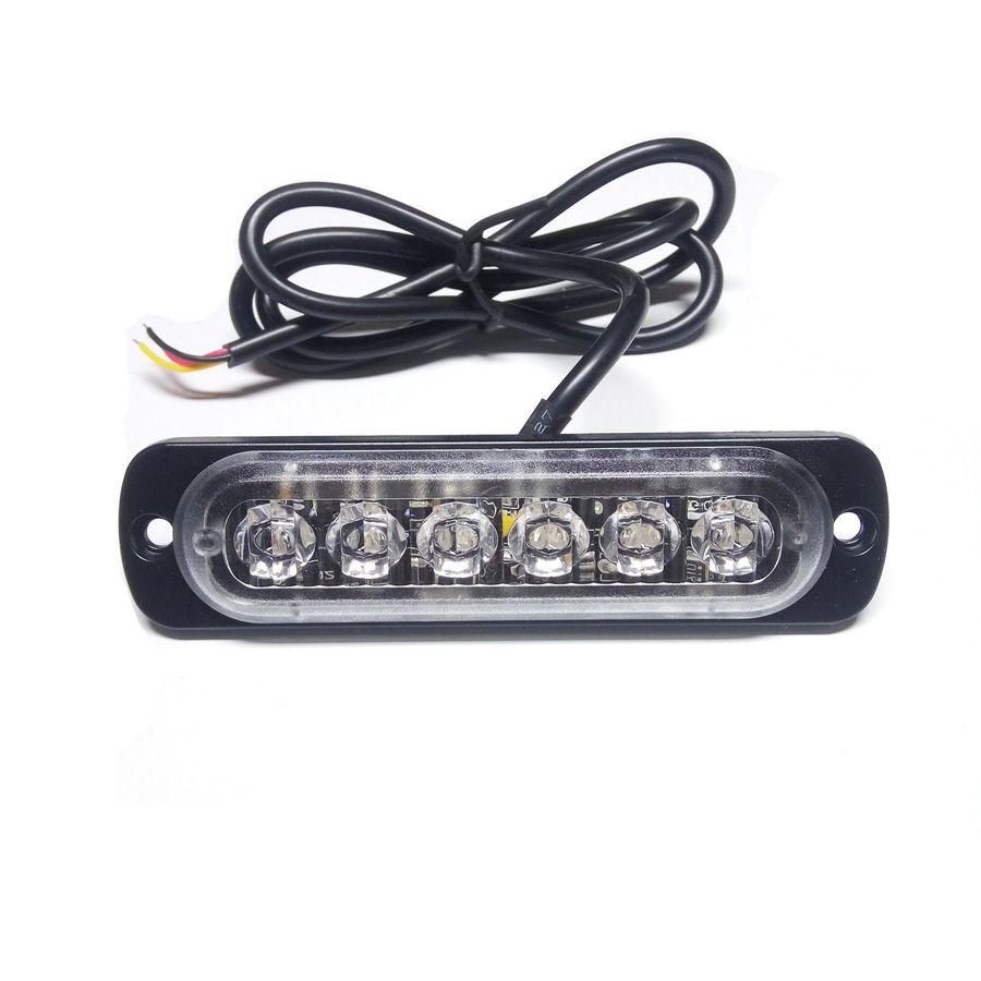 2X Car-Styling 18W Bianco Ambra lampada flash lampeggiante Auto Strobe emergenza Spia Bar 6 luci a LED parcheggio nuovo di trasporto