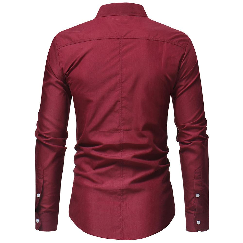 Frieed Mens Chinese Style Stylish Mandarin Collar Linen Button Down Shirts