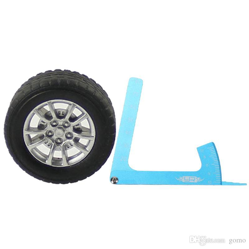 Einstellbare RC Car Lineal messen Höhe Felge Sturz RC Car Balance Tool On-Road-RC-Car-Zubehör
