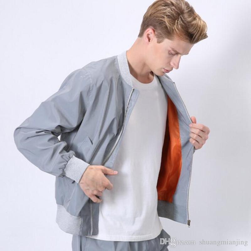 New 2018 plus size giacca volo Primavera / autunno uomo giacca a vento 3 m giacca riflettente casual hip hop giacche e cappotti jaqueta masculina