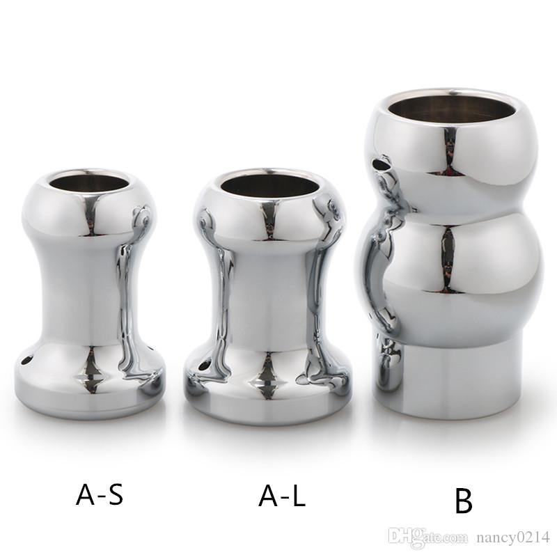 Anus Dilator Unisex Hollow Anal Speculum Butt Plug Anus Stopper Vaginal Plug Prostate Massage Sex Toy for Couples H8-1-87
