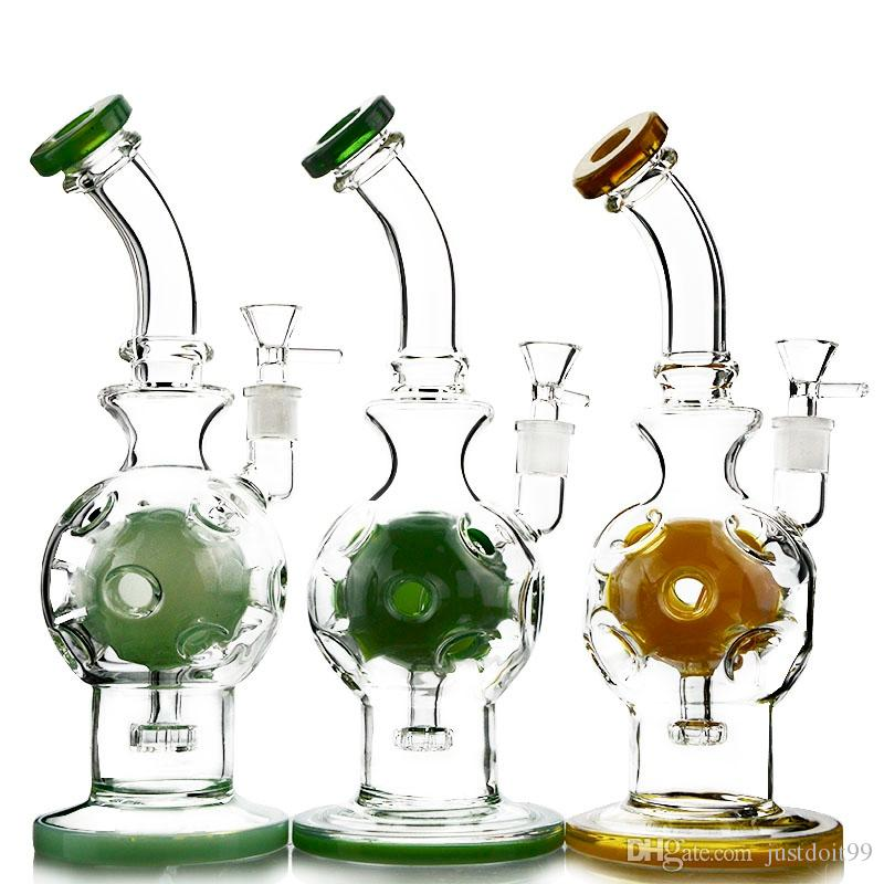 New Design Fab Egg Glass Bongs Oil Rig Swiss Perc Showerhead Fab Egg Water Pipes Bongs For Free Shipping WP510
