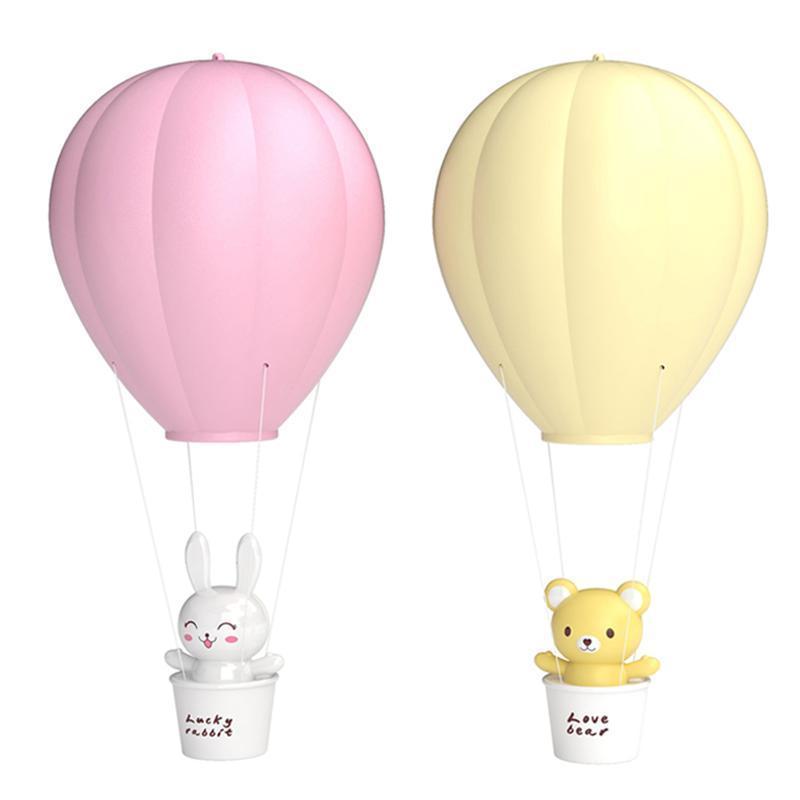LED 야간 조명 원격 제어 어린이 디저트 열기구 풍선 어린이 방 파티 벽 장식 풍선 장식
