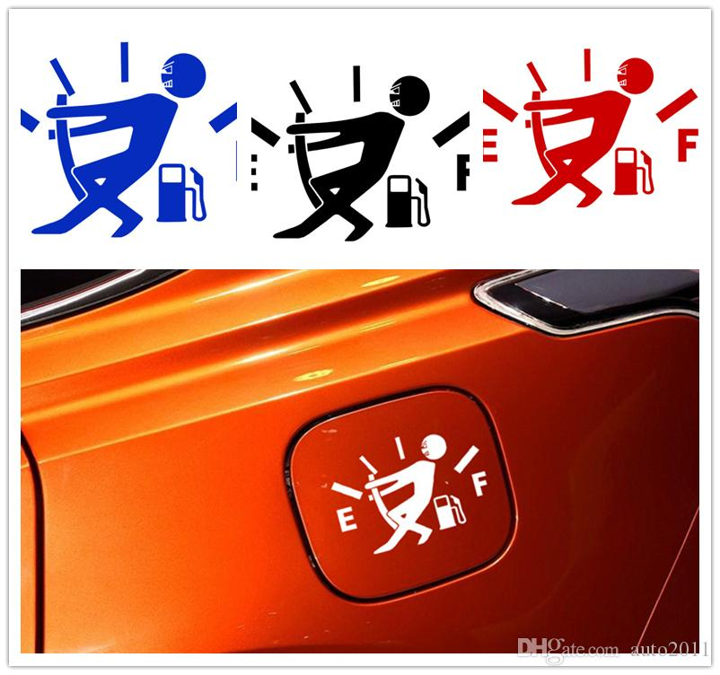 High Gas Consumption Car Stickers Decal Fuel Gage Empty Stickers Vinyl Car MZ