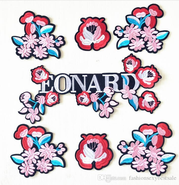 7 style Flowers patch clothes for coat,scrapbooking patches repair,Down embroidery pattern large decorative stick Process C406
