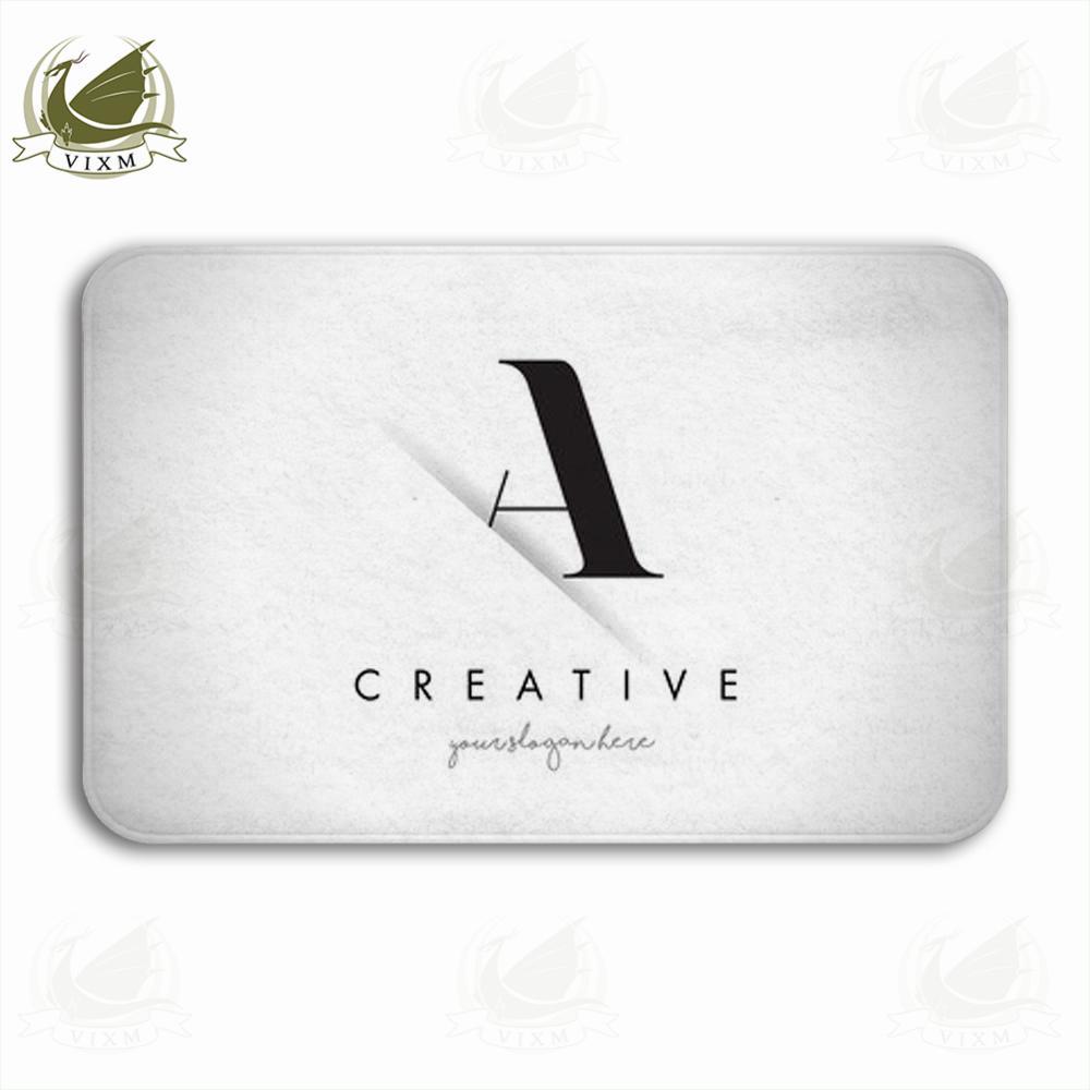Vixm Mektup Logo Tasarım Yaratıcı Kağıt Kesim Ve Serif Yazı Ile Karşılama Kapı Mat Kilim Fanila kaymaz Giriş Kapalı Mutfak Banyo Halı