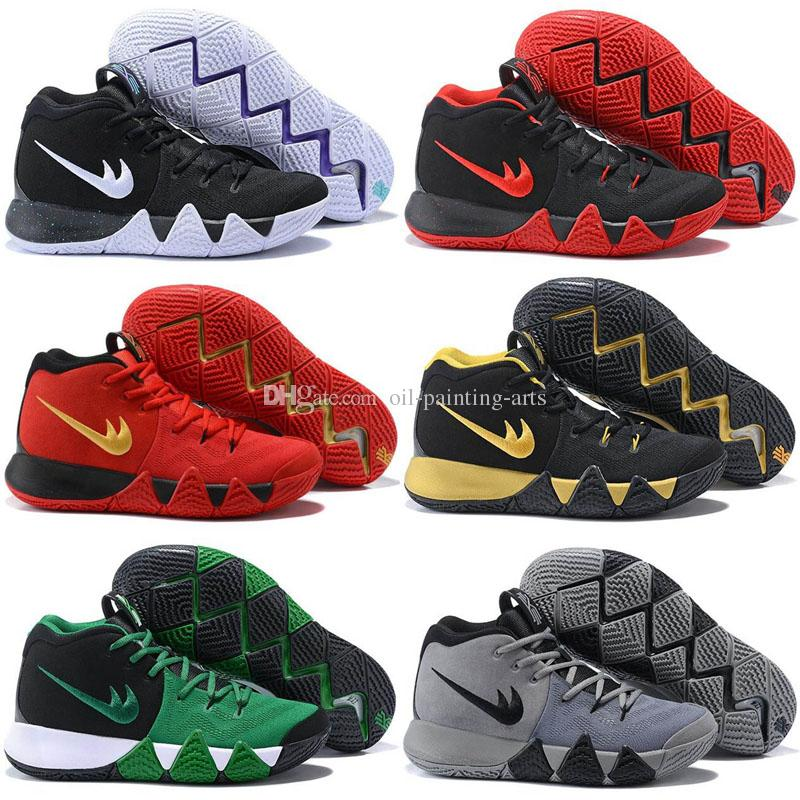 info for 24ff8 b4714 New Kyrie Irving Basketball Shoes 4 Men Man Mens Grey Sale Sport Bhm Kyries  Shoe 4s Iiii Thin Mesh Real China Sneakers Hombre Dress Shoes Wedge Shoes  ...