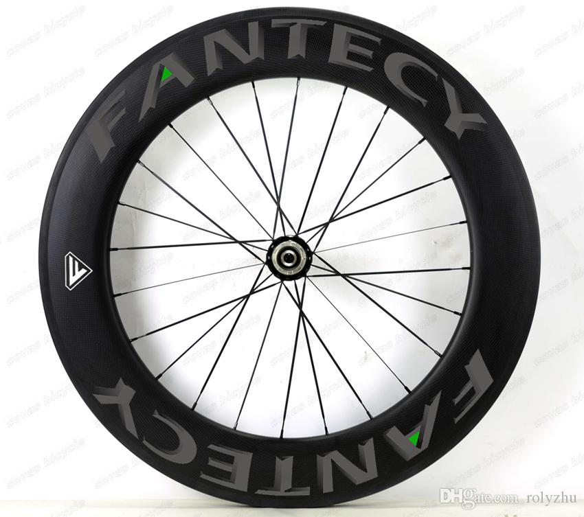 FANTECY!700C 88mm depth road bike Full carbon wheels 25mm width Clincher/Tubular road bicycle carbon wheelset with Powerway R36 hub