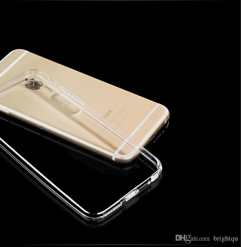 TPU transparente ultra fina de 0,3 mm Caso de gel suave claro para el iPhone 6S Plus / 6 + 7 + 7 + 8 8 PLUS X iPhone XR XS 11 MAX Pro Samsung S1 S9 Nota 10