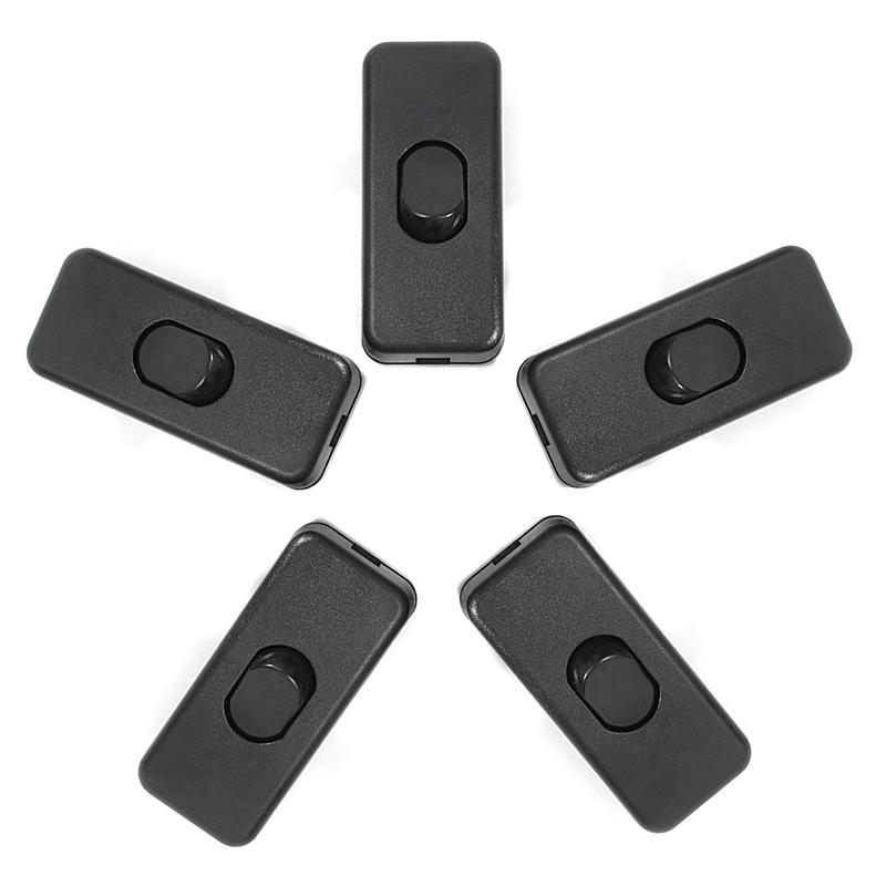 5pcs / lot ON / OFF 인라인 스위치 블랙 인라인 테이블 램프 데스크 라이트 코드 케이블 스위치 110-250V