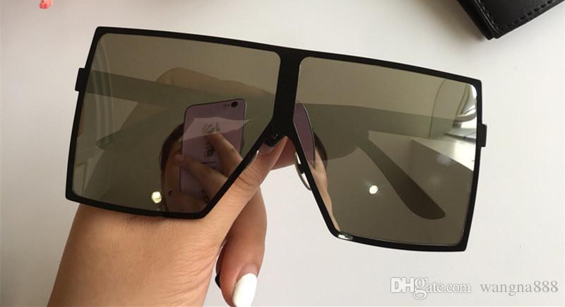182 Sonnenbrillen Mode Frauen Beliebte Modell Full Frame UV400 Objektiv Sommer Stil Großer quadratischer Rahmen Top Qualität Kommen Sie mit Fall heißer Verkauf