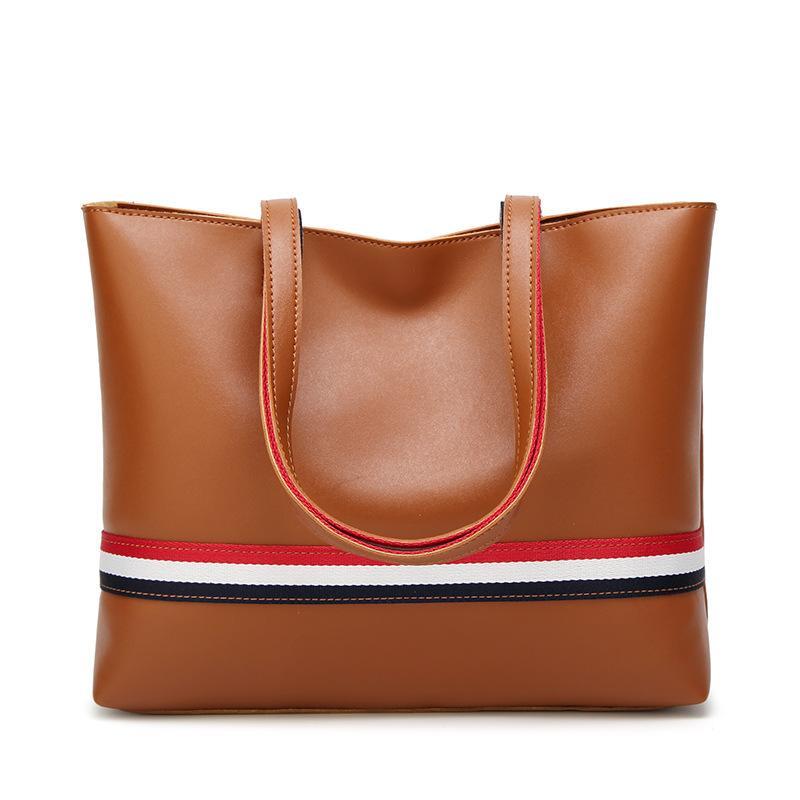 Big Bag Frau American und European Color Tote Tasche 2018 New große Kapazität Damen Tasche 100 Runde Streifen Single Schulter Handtasche